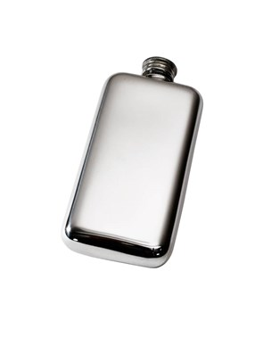3oz Plain Pewter Pocket Flask