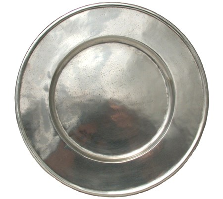 Pewter Plate / Charger 34cm Diameter