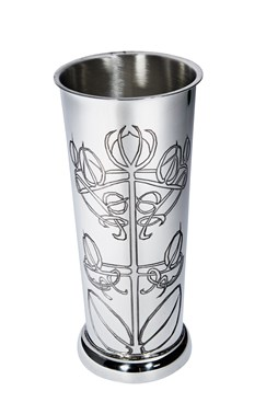 Knox pewter flower vase
