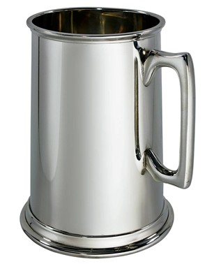 Plain giant 4 PINT Pewter Tankard