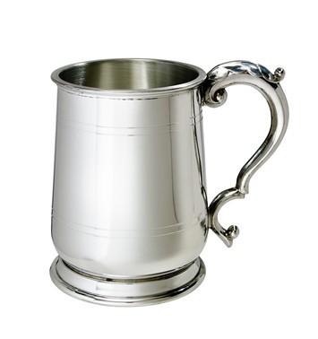 Standard Jacobean 1 pint pewter Tankard
