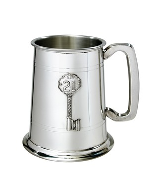 21 Key Badge 1 Pint Pewter Tankard
