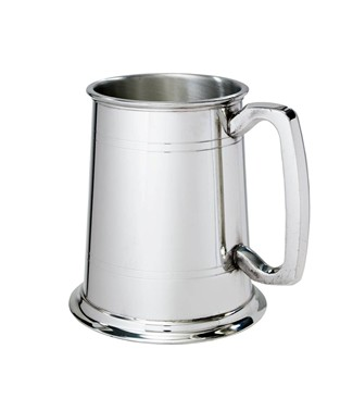 Standard Double Lined 1 pint pewter Tankard