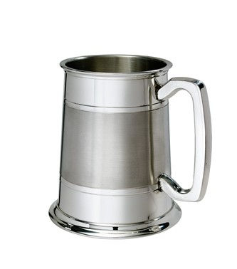 Part Satin Standard 1 pint Lined Pewter Tankard