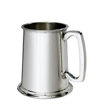 Plain Standard 1 pint Pewter Tankard