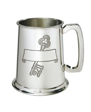 21 Key Stamp 1 Pint Pewter Tankard