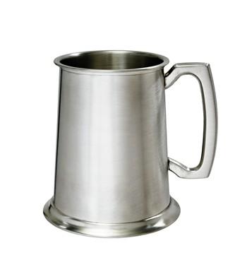 Standard Satin 1 pint Pewter Tankard