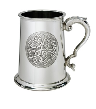 Celtic circle 1 Pint Pewter tankard