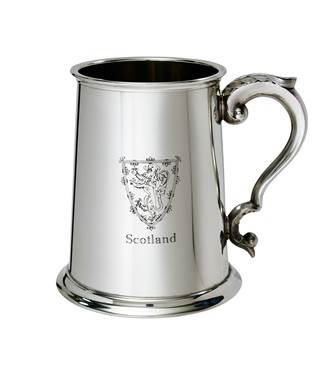 Lion of Scotland 1 pint pewter Tankard