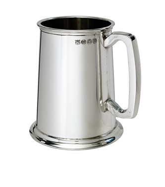 Plain 1 pint Pewter Tankard
