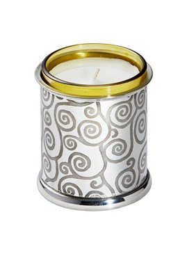 Tree of Life Pewter Candle Votive