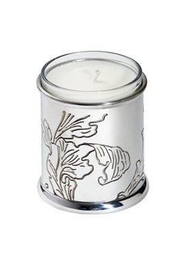 Acanthus Pattern Pewter Candle Votive