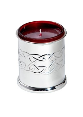 Pewter embossed Celtic candle votive