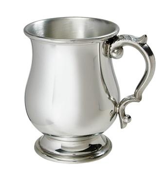 Half Pint Standard Georgian pewter tankard