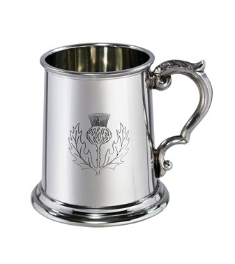 Half pint Thistle Pewter Tankard