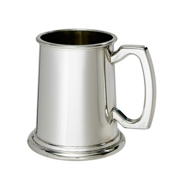 Half Pint Plain pewter Tankard