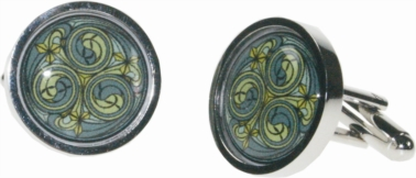 Kells green cufflinks