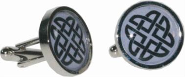 Round celtic purple cufflinks