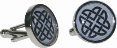 Round celtic purple cufflinks