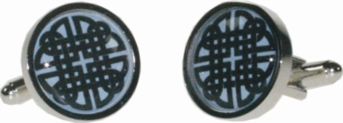 Round celtic blue cufflinks