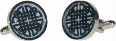Round celtic blue cufflinks