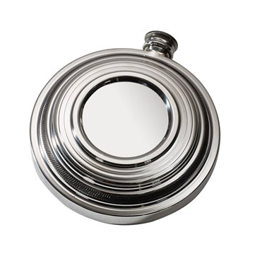 Clay Shot round pewter Flask