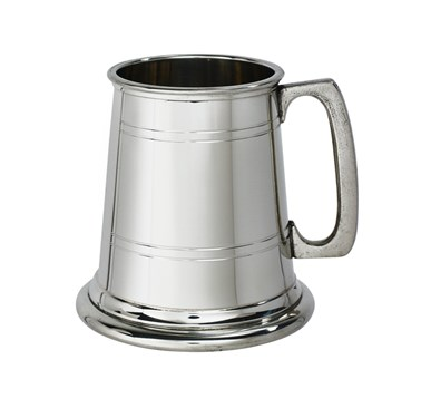 Lined Square Handle Baby pewter quarter pint Mug