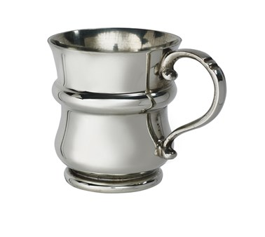Thistle Shaped Quarter pint pewter baby Mug