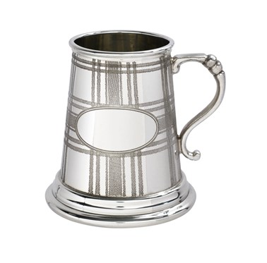 Quater pint Tartan pewter Baby Mug