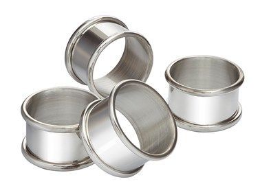 Set of Four pewter Napkin Rings