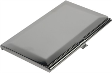 Nickel Plated Silver Coloured Business card case