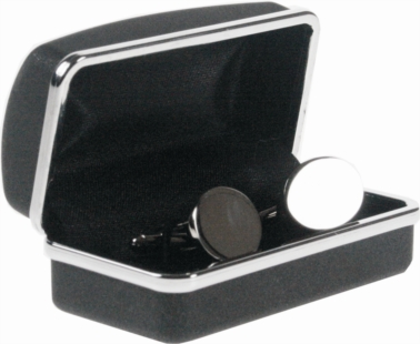 Nickel plated Polished oval cufflinks