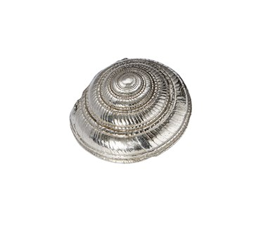 Cast Pewter Large Flat Spiral ornament