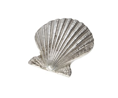 Cast pewter Baby Scallop shell ornament