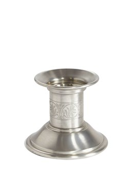 Extra Small Medieval Pewter Candle Holder Antique Finish
