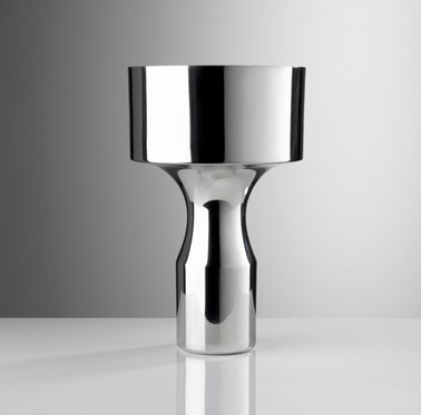 Pewter Slim Flared Groove Vase by Miranda Watkins