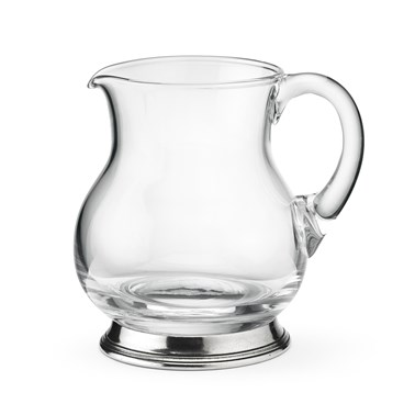 Pewter and glass pitcher Small