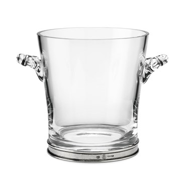 Pewter and glass ice bucket
