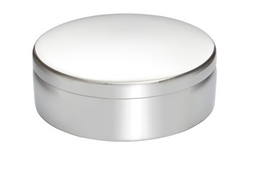 8cm plain round pewter trinket Box