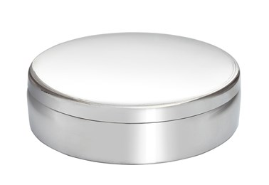 10cm Round Plain Pewter Trinket Box