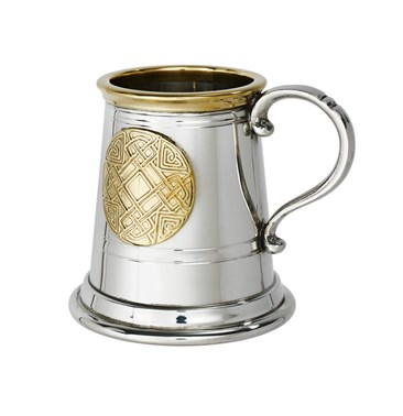 Quarter pint celtic gold Pewter and Brass Baby mug