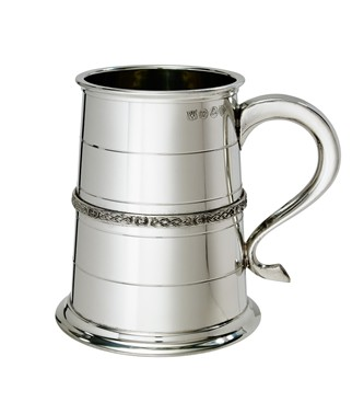 Single Celtic Band 1 pint Pewter Tankard