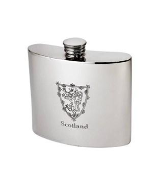 6oz Lion of Scotland pewter kidney hipFlask