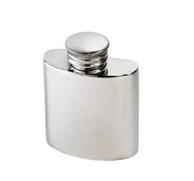 1oz Plain Small Pewter Purse Flask