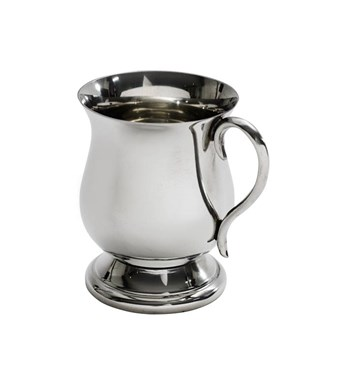 Small Baby Georgian pewter baby mug