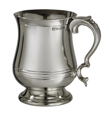Extra Heavy  X Range Pewter Georgian 1 Pint tankard