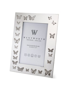 "Butterfly Pewter 6""x4"" Picture Frame"