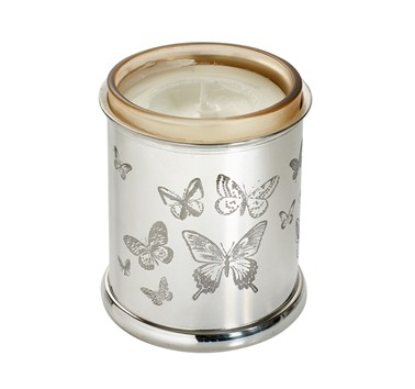Butterfly pewter candle Votive