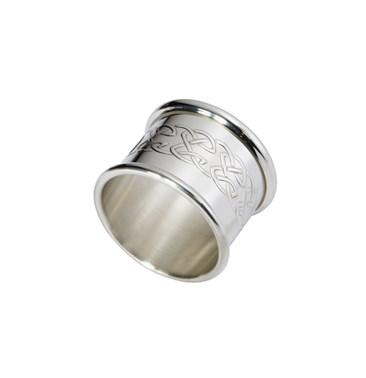 Embossed celtic pewter napkin ring
