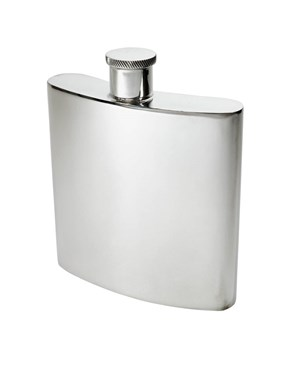 26oz Giant Plain Pewter Kidney Spirit Flask